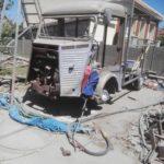 aerogommage de voiture ancienne sablage
