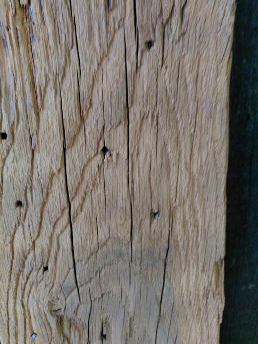 details bois sabler